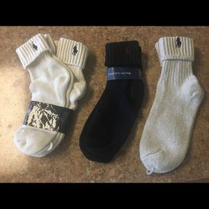 4 pair Ralph Lauren socks in 100% cotton.